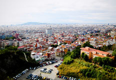 Landscape of Barcelona. The landscape of Barcelona in the daytime, Spain Stock Images
