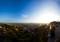 LANDSCAPE OF BARCELONA FROM sightseeing, CATALONIA, SPAIN. Stock Images