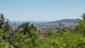 Landscape of Barcelona, Spain Stock Photo