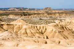 Landscape of Bardenas blancas in Navarre, Spain Royalty Free Stock Photo