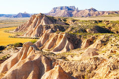 Landscape of bardenas reales natural park in  Navarra Stock Photography