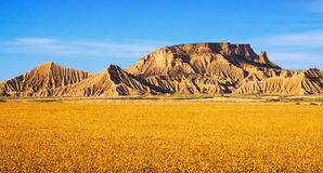 Landscape of bardenas reales natural park  in  Navarra Royalty Free Stock Photo