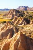 Landscape of bardenas reales natural park in  Navarra Stock Images