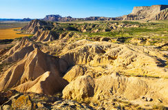 Landscape of bardenas reales natural park in summer Royalty Free Stock Images