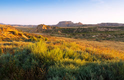 Landscape of bardenas reales natural park Royalty Free Stock Photos