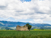 Landscape with barn Royalty Free Stock Photo