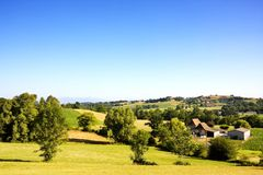 Landscape of Béarn (France) Royalty Free Stock Photography