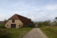 Landscape with barn Stock Images
