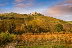 Landscape of Barolo wine region royalty free stock images