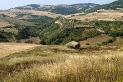 Landscape in Basilicata (Italy) at summer Stock Images