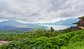 Landscape of Batur volcano Royalty Free Stock Images