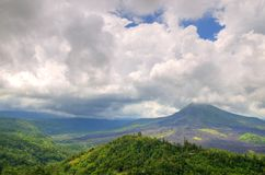 Landscape of Batur volcano on Bali island, Indonesia.  Stock Image