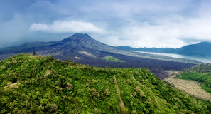 Landscape of Batur volcano Royalty Free Stock Photography