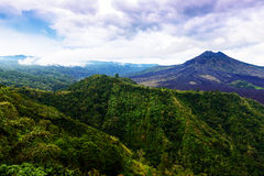 Landscape of Batur volcano on Bali island Royalty Free Stock Photography