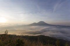 Landscape of Batur volcano Royalty Free Stock Photo