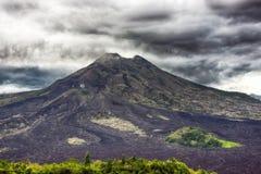 Landscape of Batur volcano on Bali island, Indonesia Stock Photo