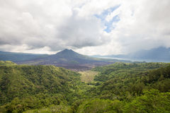 Landscape of Batur volcano on Bali island, Indonesia Royalty Free Stock Photography