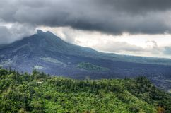 Landscape of Batur volcano on Bali island, Indonesia.  Royalty Free Stock Photo