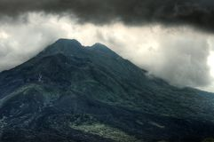Landscape of Batur volcano on Bali island, Indonesia.  Royalty Free Stock Photos
