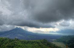 Landscape of Batur volcano on Bali island, Indonesia.  Royalty Free Stock Image
