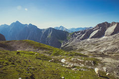 Landscape. BAVARIAN ALPS, GERMANY - AUGUST, 2016 royalty free stock image
