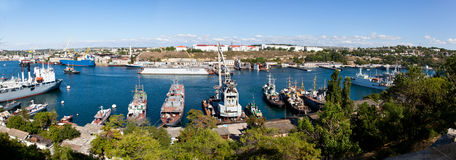 A landscape of the bay (Sevastopol, Ukraine) Royalty Free Stock Photos