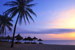 Landscape on beach royalty free stock photo