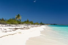 Landscape of the beach in the Caribbean Sea Royalty Free Stock Photo