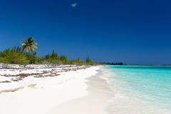 Landscape of the beach in the Caribbean Sea Royalty Free Stock Photography