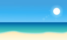 Landscape of beach collection stock Stock Image