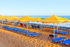 Landscape, beach on a Crete Royalty Free Stock Images