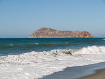 Landscape of beach on Crete island Royalty Free Stock Images