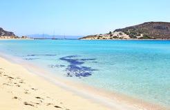 Landscape of Elafonisos island Peloponnese Greece stock photos