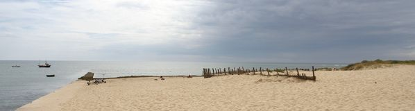 Landscape beach at La Grange Il de Re France. Royalty Free Stock Photos