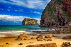 Landscape beach ocean in Asturias, Spain Stock Images