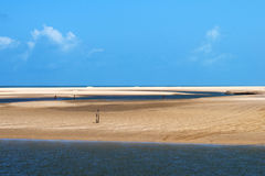 Landscape of beach and sea royalty free stock photos