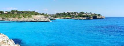 Landscape of the beautiful bay of Cala Anguila, Porto Cristo, Majorca, Spain. Landscape of the beautiful bay of Cala Anguila with a wonderful turquoise sea Royalty Free Stock Image