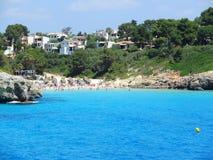 Landscape of the beautiful bay of Cala Anguila, Porto Cristo, Majorca, Spain. Landscape of the beautiful bay of Cala Anguila with a wonderful turquoise sea Stock Images