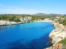 Landscape of the beautiful bay of Cala Estany d`en Mas with a wonderful turquoise sea, Cala Romantica, Porto Cristo, Majorca. Spain Stock Photo