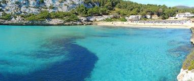 Landscape of the beautiful bay of Cala Estany d`en Mas with a wonderful turquoise sea, Cala Romantica, Porto Cristo, Majorca. Spain Royalty Free Stock Image
