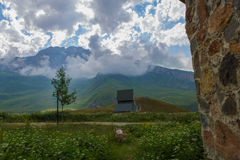 Landscape. Beautiful landscape with clouds at Azerbaijan stock photos
