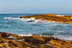 Beautiful coast during sunset near Malia, Crete,  Greece Stock Images
