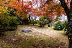Landscape image of Arashiyama park at Kyoto Japan. Landscape with beautiful of colorful maple leaves, Nature trail in Arashiyama park is one of landmark in Kyoto Royalty Free Stock Photos