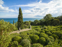 Landscape with a beautiful green garden Stock Photography