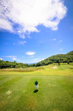 Landscape of a beautiful green golf Royalty Free Stock Photos