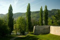 Banja Luka in Bosnia and Herzegovina. Landscape and beautiful greenery in Banja Luka in Bosnia and Herzegovina Royalty Free Stock Images