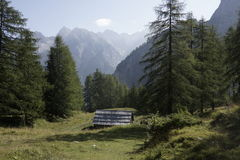 Landscape of the beautiful Julian Alps Royalty Free Stock Photography
