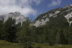 Landscape of the beautiful Julian Alps Royalty Free Stock Images