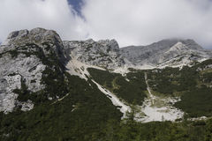 Landscape of the beautiful Julian Alps Royalty Free Stock Photo