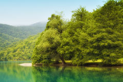 Landscape of a beautiful lake Stock Images